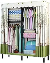 XDDDX Simple Wardrobe Assembly Nonwoven Dustproof Moisture Proof Bedroom Storage Organizer Zipper Clothing Closet for Home...