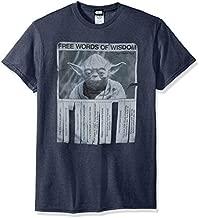 Star Wars unisex adult Star Wars - Words of Wisdom T-shirt T Shirt, Premium Navy Heather, Medium US