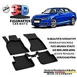 fussmattenprofi.com Auto Gummifußmatten Passend für Audi A4 (B9) Baujahr ab 2015
