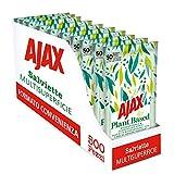 Ajax Toallitas higiénicas desechables Plant Based multisuperficie, biodegradables y con...