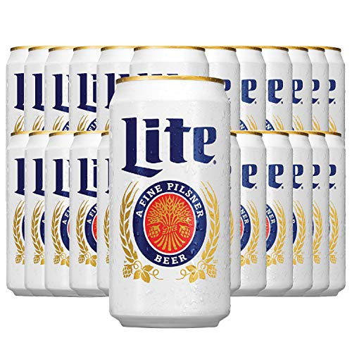 MILLER® LITE - Dosenbier 24 x 355ml amerikanisches Bier, American Beer   Die Original Importware aus den USA als perfektes Geschenk für Männer