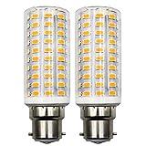Bombillas LED B22, 10 W equivalentes a 100 W, casquillo de bayoneta, bombilla LED, CA 100 – 265 V, no parpadea, intensidad regulable, luz blanca cálida 3000 K, 2 unidades