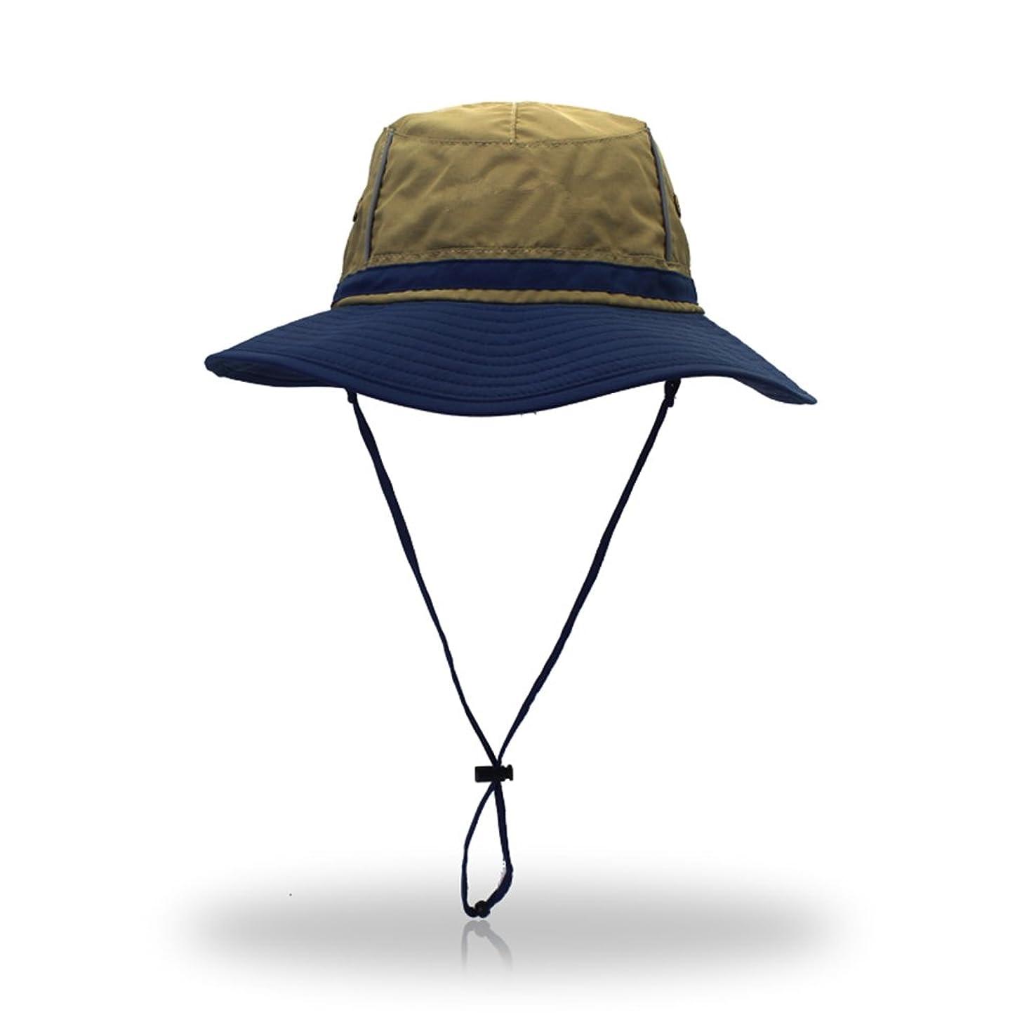 昼寝が欲しい行商MAGCOMSEN アウトドアハット サファリハット 帽子 つば広 ハット UVカット あご紐 サイズ調整可能 折り畳み 通気 速乾 軽量 男女兼用