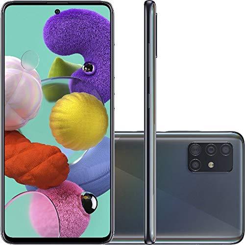 Celular Samsung Galaxy A51 Preto 4gb 128gb Câmera Quadrupla 48mp + 12mp + 5mp + 5mp