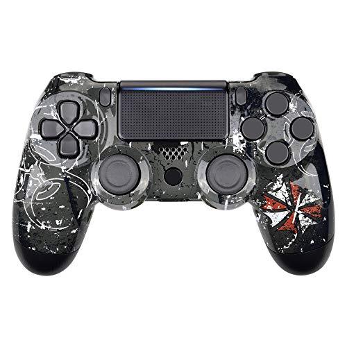 eXtremeRate PS4 Controller Obere Hülle Case Schutzhülle Gehäuse Oberschale Cover Skin Schale Shell für Playstation 4 PS4 Slim PS4 Pro Controller CUH-ZCT2 JDM-040 JDM-050 JDM-055(Biohazard)