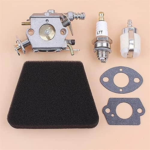 NAWQK Kit de la Junta del Filtro de Combustible de Aire de carburador Carb Air Compatible con el compañero 350 351 McCulloch Mac 335 435 440 Piezas de reemplazo de la Motosierra Walbro 33-29