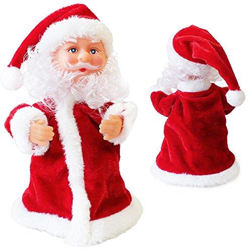 Singender Tanzender Weihnachtsmann im Roten Mantel Weihnachts Deko Weihnachten Figur Nikolaus