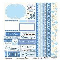 パターンペーパー K Lovely Blue (5枚1パック)