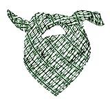 Bimba Verde tresillo tie-dye Pañuelos de seda impresos para el cuello de la bufanda del pelo del verano del abrigo puro 40 x 40 Pulgadas