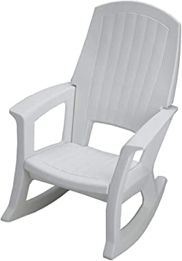 Semco Plastics SEMS Extra Large Recycled Plastic Resin Durable Outdoor Patio Rocking Chair, Sand Tan