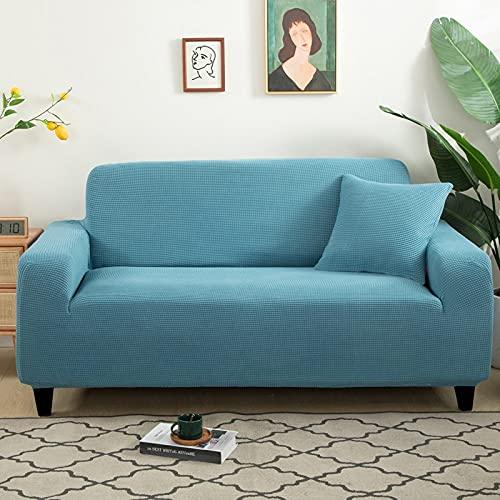 WXQY Fundas de Jacquard de Color Puro Funda de sofá elástica elástica Funda de sofá de protección para Mascotas Funda de sofá de Esquina en Forma de L A4 4 plazas