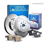 2 Bremsscheiben Voll 230 mm + Bremsbeläge ATE 1420-21646 Bremsanlage