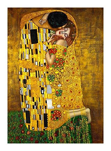 Puzzle Gustav Klimt El Beso 300/500/1000 Pieza del Rompecabezas impresionista de la LON Exquisito Juguete único del hogar del Regalo (Size : 1000pcs )