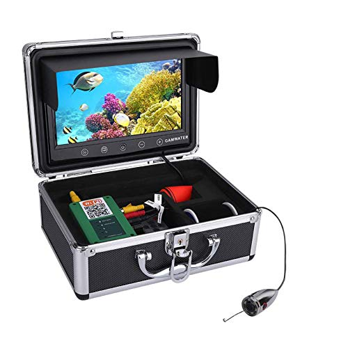 HWMYA Monitor de Color de 10 Pulgadas 720P 1000TVL Pesca bajo el Agua Kit de cámara de Video 15M Cable Fish Finder WiFi 5 Aplicación móvil Visualización para iOS para Android,20m