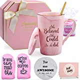Inspirational Gifts for Women, Congratulations Gifts for Her She Believed She Could So She Did Coffee Mug Get Well Soon Spiritual Gift for Birthday Graduation Encouragement Going Away Nurse Cup 14oz