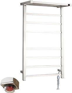 GXFC Calentador de Toallas calentado de Acero Inoxidable montado en la Pared, Radiador toallero eléctrico para baño, para Hotel, Sauna, SPA, Opciones Cableadas y enchufables