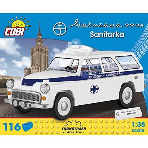 Cobi COB24549 Warszawa 223 K ambulans (117 szt.) zestaw modelowy zbudowany z cegły
