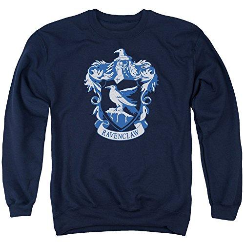 Crewneck Sweatshirt: Harry Potter- Ravenclaw Crest Size L, Navy, Size Large
