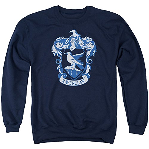 Crewneck Sweatshirt: Harry Potter- Ravenclaw Crest Size L, Navy, Size Large