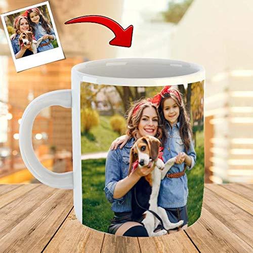 Taza Personalizada con tu Foto Taza Personalizable con tu Diseño Taza Apta para Microondas y Lavavajillas Taza de Cerámica con el Interior Blanco Envio 24h