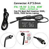 45W 19.5V 2.31A Adapter Charger Replacement for Dell Ultrabook XPS 13 13D 321X 322X L321X L322X,XPS 15 9530 9550,XPS 12 12D L221 L221X 9Q23 9Q33,XPS 18 1810 1820 XPS018,XPS 11 9P33,332-1827 492-BBOF