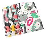 ALIMITOPIA Spiral Notebook Joural,Wirebound Ruled Sketch Book NotePad Diary Memo Planner,A5 Size & 80 sheets(4pcs,Abstract Painting)