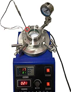 BAOSHISHAN 50ml Hydrothermal Synthesis Magnetic Stirring Reactor High Pressure Temperature Autoclave Reactor PTFE Lining with Visible Quartz Window (220V)