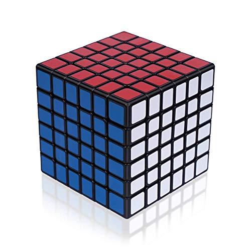 Findbetter 6S 競技用キューブ 6x6x6 立体パズル 令和進化版 6階 公式 ver.2.0 黒素体 世界基準配色 PVCシール こども 脳トレ 知育玩具 ポップ防止 回転スムーズ