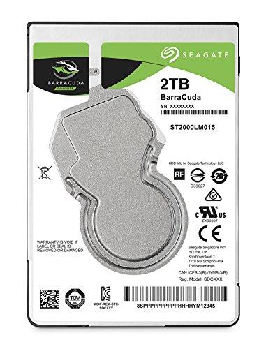 Seagate Barracuda 2TB HDD SATA 6GB/s 5400rpm, 6,4cm, 2,5, 7mm bauhã ¶ He 128MB cache BLK
