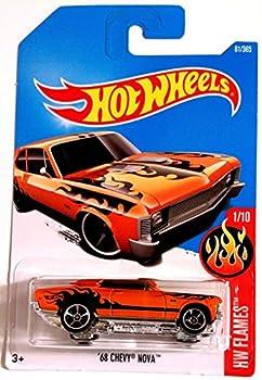 Hot Wheels 2017 HW Flames  68 Chevy Nova [Orange] 61/365