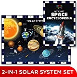 Book Toys Set of Jigsaw Solar System Puzzle with Space Encyclopedia Learning and Educational Toy for Boys and Girls Ages 5 Years Old and Above