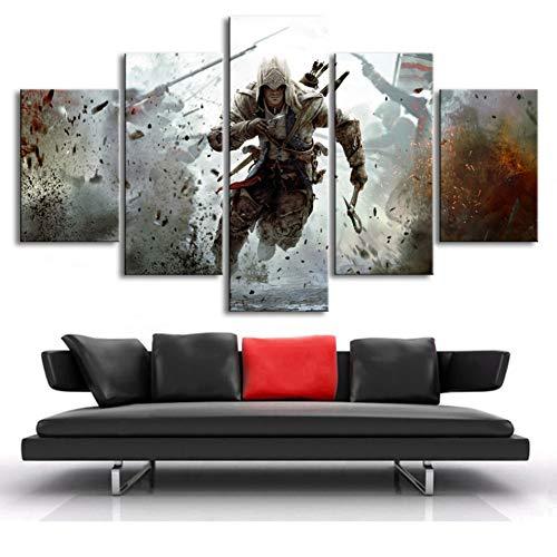 (size 3)5 Leinwand Film Assassin's Creed Charakter Poster HD Drucken Bild Home Decor Wand Moderne Kunst Rahmenlose