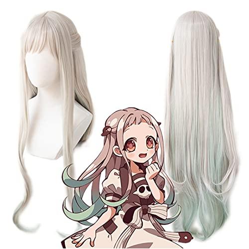 Perfe Toilet-Bound Hanako-kun Peluca de cosplay de anime + gorro de peluca (Nene Yashiro)