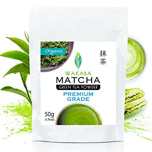 WAKABA Organic Matcha Green Tea Powder [Premium ceremonial grade 50g]   Produced by Matcha Cafe WAKABA (DE-ÖKO-013)  For…