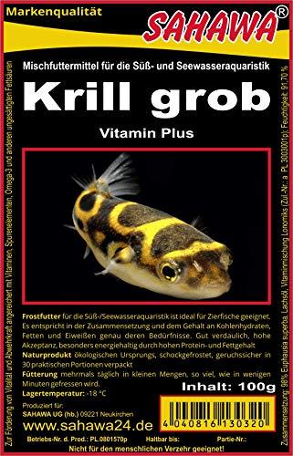 SAHAWA Frostfutter 6X 100gKrill Blister =3X Krill grob+ 3X Krill fein Fischfutter Aquarium