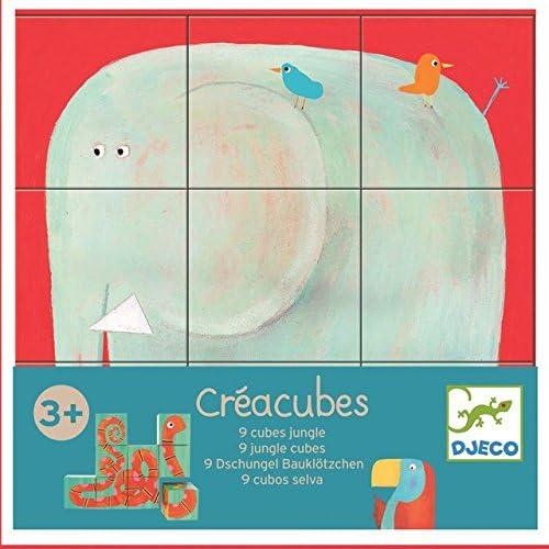 Djeco - Créacubes - 9 cubes jungle