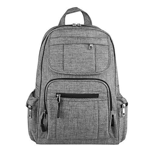 OBC Damen Rucksack Tasche Schultertasche Canvas Nylon Daypack Backpack Handtasche Tagesrucksack Cityrucksack (Grau.)