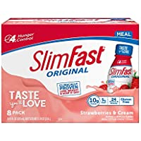 8-Count Slimfast Original Strawberries & Cream Meal Replacement Shake