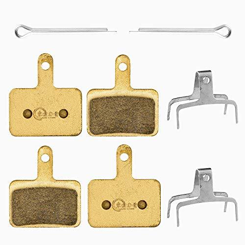 EP 2 Pares Pastillas de Freno para Shimano B01s Deore M675 M315 M355 M365 M375 M395 M396 M425 M416 M445 M446 M447 M475 M486 M506 M515 M525 M575 Tektro Pastillas Freno Disco, Semi-metálico,Negro