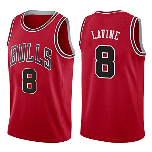 Fei Fei Chicago Bulls Zach LaVine #8 Camiseta de Baloncesto para Hombre Transpirable Resistente al Desgaste Camiseta para niños Adolescentes Estudiantes(Tamaño: S-XXL),M