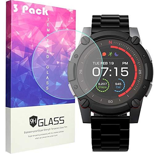 LvBU Für PowerWatch 2 Displayschutzfolie, 9H Härte Panzerglas Schutzfolie für Matrix PowerWatch 2 Smartwatch (3 Stück)