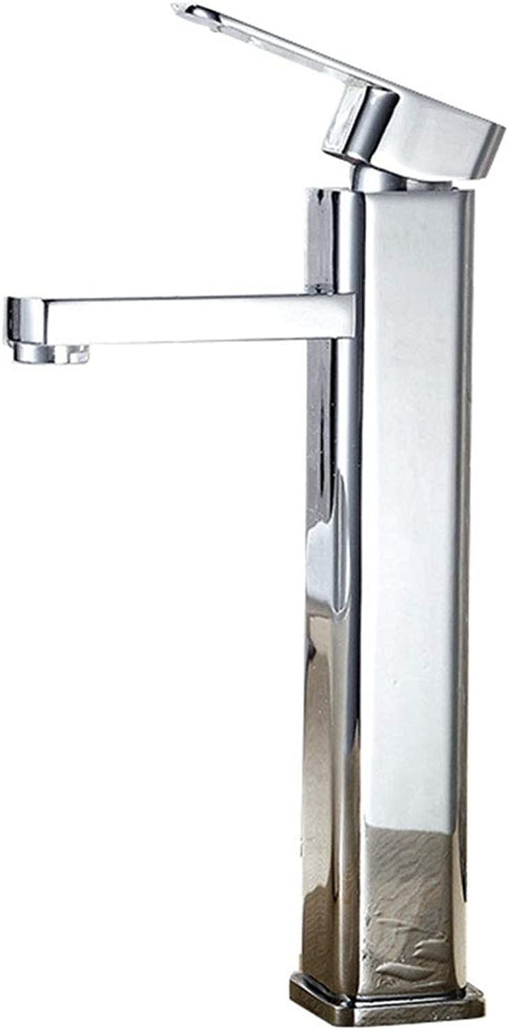 YDALJ Bathroom Single Handle Faucet Square Single Hole Crossing Mixed Water Hot And Cold Basin Basin Kitchen Faucet