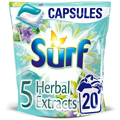 Surf 5 Herbal Extracts Washing Capsules 20 Wash 20 per pack