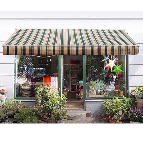 NOSYI Markise Alu-Markise, Einziehbare Markise, Garten- Und Outdoor-Sonnenschutz-Überdachungs-Pavillon Mit Beschlägen Und Kurbelstützen-Anpassung (Color : Brown, Size : 5 x 3m)