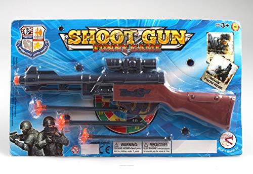 Shoot Gun Gewehr + Suchfernrohr Pfeilgewehr 34 cm mit 3 Pfeilen