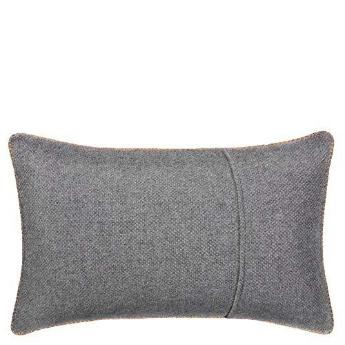 Must Stitch-Kissenbezug – edle, weiche Sofa-Kissenhülle aus reiner Schurwolle mit Leiterstich – 30x50 cm – 160 curry – von 'zoeppritz since 1828'