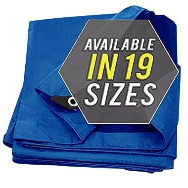 Tarp Cover Blue, Heavy Duty 12'x16' Waterproof, Great for Tarpaulin Canopy Tent, Boat, RV Or Pool Cover!!! (Poly Tarp Heavy Duty 12X16)