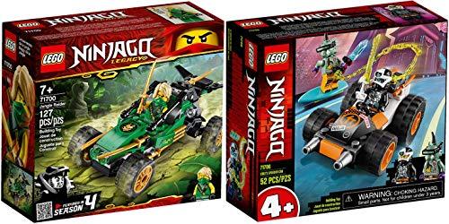 LEGO Ninjago Set 71700 Legacy Le Buggy de la Jungle, Voiture avec Figurine de Lloyd + 71706 Le Bolide de Cole
