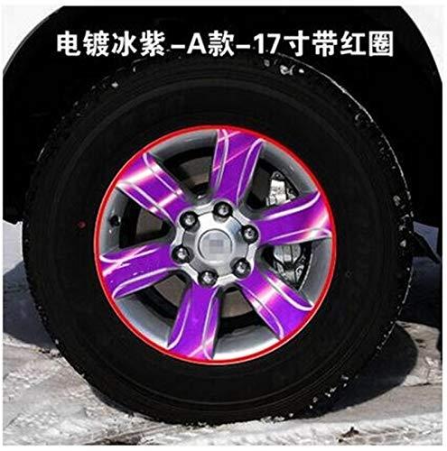 SEHNL Pegatina de Llantas/Llantas de 17 Pulgadas Reflectantes/Ruedas para Toyota Prado Motocicleta Llantas (Color Name : Purple)
