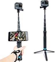AnKooK Waterproof Selfie Stick Aluminum Alloy Hand Grip Telescopic Handheld Monopod for GoPro Hero 6/5/ Hero 4/3+, iPhone 7/7 Plus / 6s Plus / 6, Samsung Galaxy S8 Edge S7 S6 and Smartphones